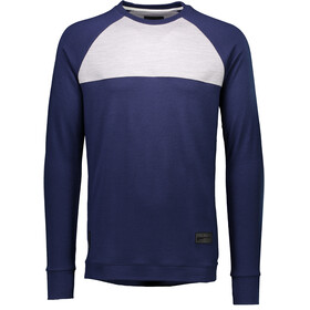 Mons Royale M's The 19th Crew Jersey Navy/Grey Marl